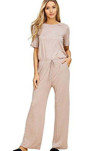 Joe Wenko Womens Casual Harem Baggy Fit Spaghetti Strap Rompers Jumpsuits