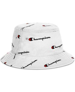 sklep szybka dostawa buty na codzień Champion Men's Logo Script Bucket Hat - White S/M in 2019 ...