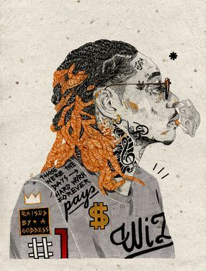 Wiz Khalifa Wiz Khalifa The Wiz Hip Hop Artwork