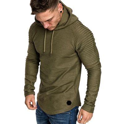 Men Solid Color Slim Sweatshirt Sportswear Hoodie SF – loveitbabe