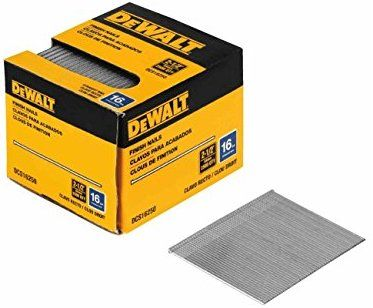 Dewalt Dcs16200 2 Inch By 16 Gauge Finish Nail 2 500 Per Box Collated Finish Nails Amazon Com Dewalt