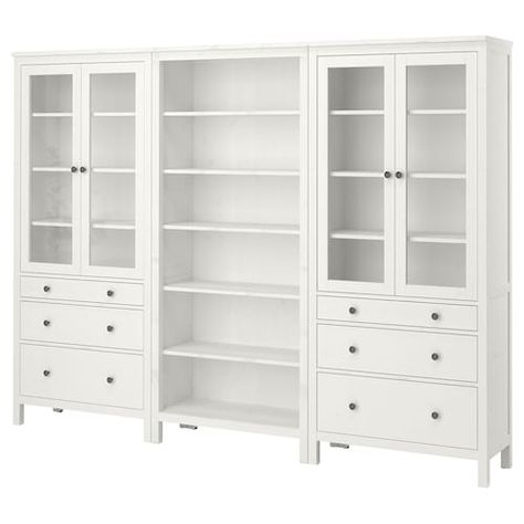 HEMNES Storage combination - white - IKEA, possible craft room storage