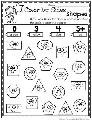 Shapes Worksheets Kindergarten Math Worksheets Shapes Worksheet