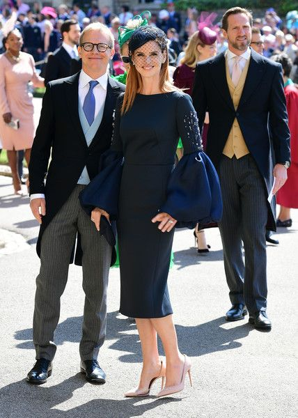 sarah rafferty in lanvin royal wedding outfits navy dress outfits royal wedding guests outfits royal wedding outfits