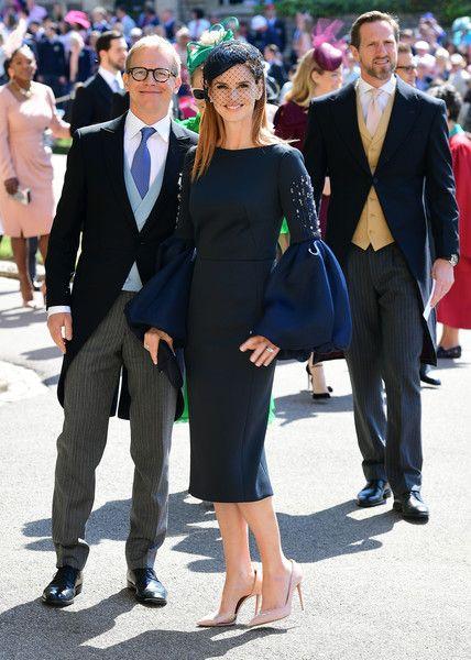 sarah rafferty in lanvin royal wedding outfits navy dress outfits royal wedding guests outfits royal wedding outfits
