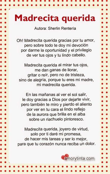 Poemas Bonitas Cartas Para El Dia De La Madre Poema Para Mama Buscar Con Google Poema Para La Madre Poemas