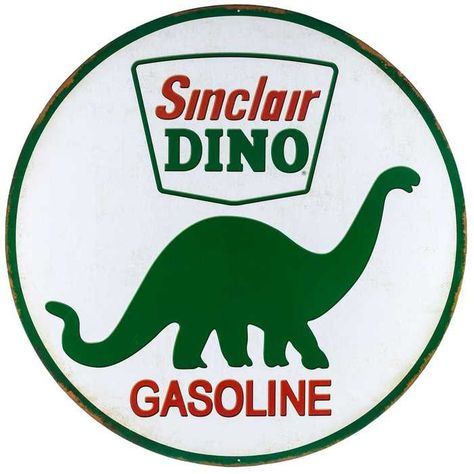 "12/"" Sinclair Dinosaur handy man cave motor oil gas station logo USA metal sign"
