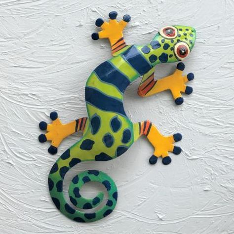 Oliver the Metal Gecko Wall Art - 40in