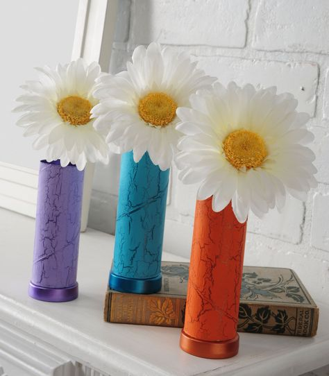Toilet paper roll vases
