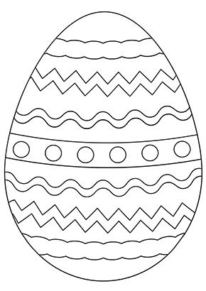 Osterei Mit Wellen Zum Ausmalen Ausmalbilder Malvorlagen Ostern Osterhase Easter Egg Coloring Pages Easter Coloring Pages Coloring Easter Eggs