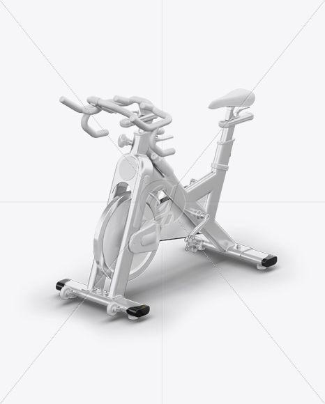Download Exercise Bike Mockup Half Side View High Angle Shot Present Your Design On This Mockup Simple To Change The Col Biking Workout High Angle Shot High Angle