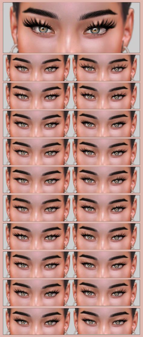 sims 4 lashes Born to Raise Hell I have finally made some lashes. You can grab. Los Sims 4 Mods, Sims 4 Game Mods, Sims 4 Cc Eyes, Sims 4 Mm, Sims 4 Mods Clothes, Sims 4 Clothing, Mary Kay, Hollywood Lashes, The Sims 4 Skin