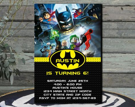 Fiesta De Cumpleaños De Batman Cumpleaños De Lego Batman