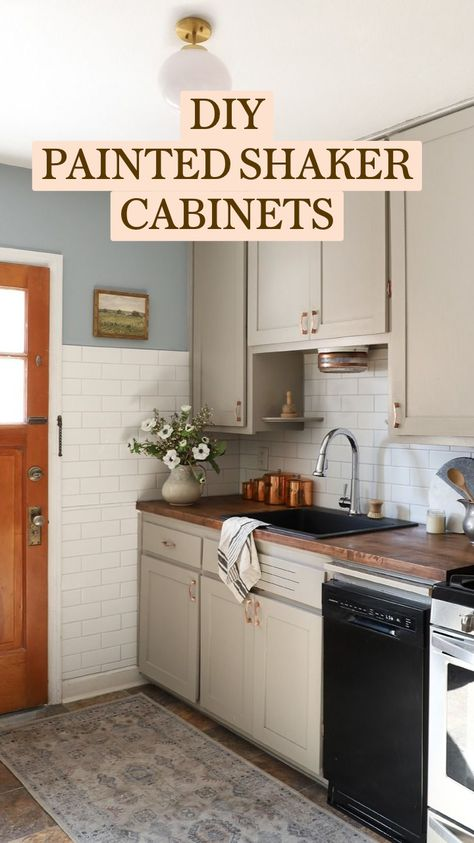 DIY PAINTED SHAKERCABINETS