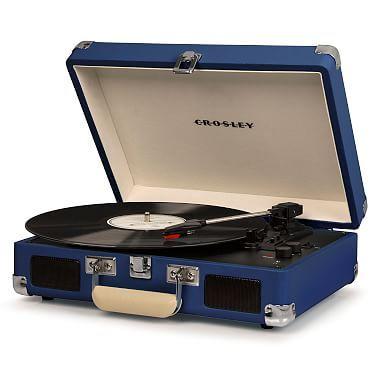 Crosley Cruiser Deluxe Portable Turntable Blue Crosley Cruiser Turntable Bluetooth Record Player