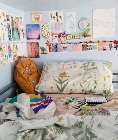 Art Hoe Room Decor Google Suche Decor Google Suche Artsy Bedroom Vintage Room Aesthetic Bedroom