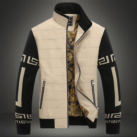 Cheap jacket video, Buy Quality jacket burton directly from China clothing stars Suppliers: Puls size Men's Jackets 2015 men Fashion jacket business casual jacket fit men's spring and Autumn International Youth Clothings Versace Fashion, Versace Men, Versace Shoes, Gucci Sweater Mens, African Men Fashion, Mens Fashion, Asian Fashion, Business Casual Jacket, Mode Man