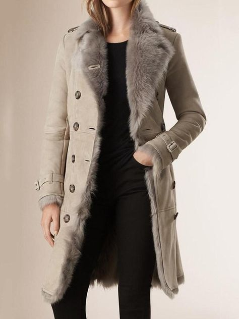 Shop for Shearling Trench Coat by Burberry at ShopStyle.