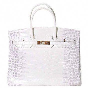 1c8f878a779f4 Hermes Birkin 35 Crocodile White 608064  Hermeshandbags
