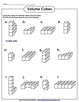 Volume Cubes Worksheet Easy Volume Worksheets Shapes Worksheets Kindergarten Worksheets
