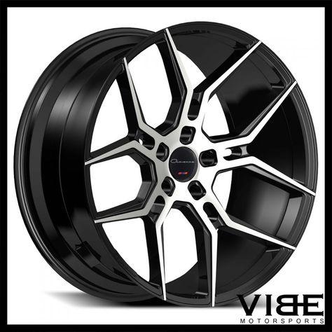 20 Giovanna Haleb Machined Black Concave Wheels Rims Fits Ford