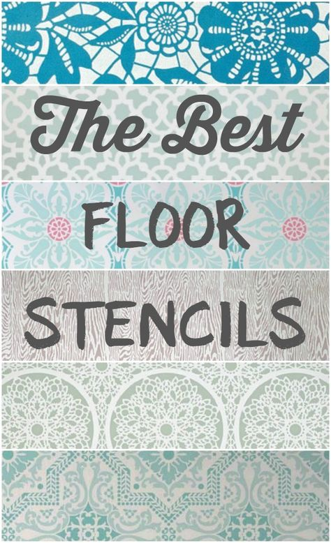 The best floor stencils for stenciling your wood or concrete floors.  Plus helpful tips for creating your own stenciled floors.