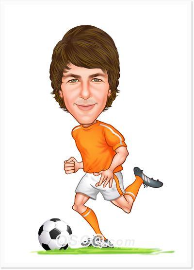 Soccer Caricature Caricature Soccer Custom Cartoons