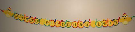 Chica the Chicken Inspired Birthday Banner