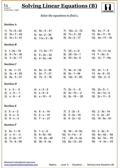 Year 7 Maths Worksheets Key Stage 3 Post Date 09 Nov 2018 78 Source Https Www Cazoomma Algebra Worksheets Year 7 Maths Worksheets Math Worksheet