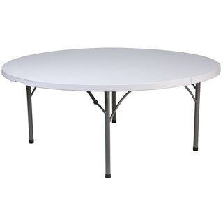 6 Foot Round Granite White Plastic Folding Table Banquet Event Folding Table Granite White Lancaster Home In 2020 Furniture Plastic Tables Table
