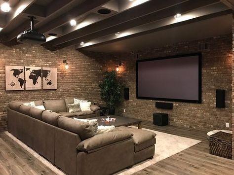 Basement Ideas: Basement Home Theater #basement (basement Ideas On A Budget)  Tags: Basement Ideas Finished, Unfinished Basement Ideas, Basement Ideu2026