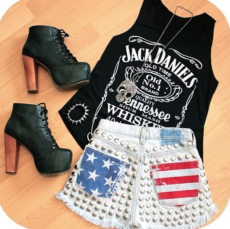 Perfect outfit for a white trash bash