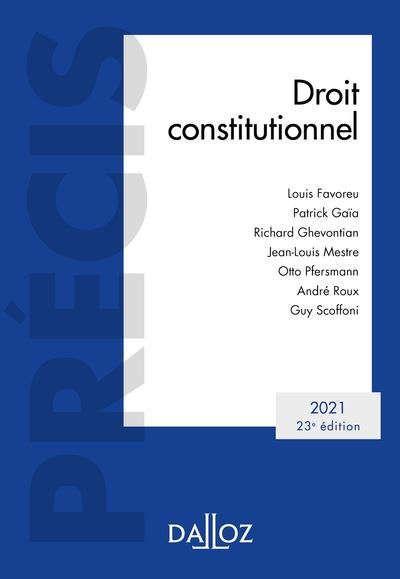Droit Constitutionnel 2021 23e Edition Editeur Dalloz Droit De L Environnement Droit Administratif Telechargement