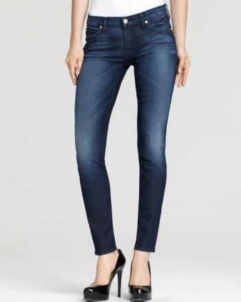 7 For All Mankind Skinny Jeans In Charrute Wash Charutte