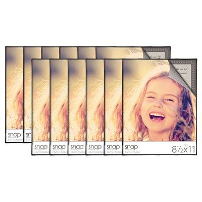 Black Front Loading Frame Set 8 5 X11 Set Of 12 Document Frame Gallery Frame Set Hanging Picture Frames