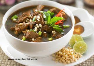 Resep Masakan Khas Indonesia Yaitu Resep Cara Membuat Rawon Daging Khas Surabaya Enak Resep Rawon Daging Sapi Bu Resep Masakan Resep Daging Masakan Indonesia