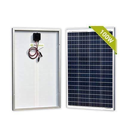 Newpowa 100 Watts 12 Volts Polycrystalline Solar Panel 100w 12v High Efficiency Module Rv Marine Boat Off Solar Panels Solar Panels For Home Solar Panels Roof