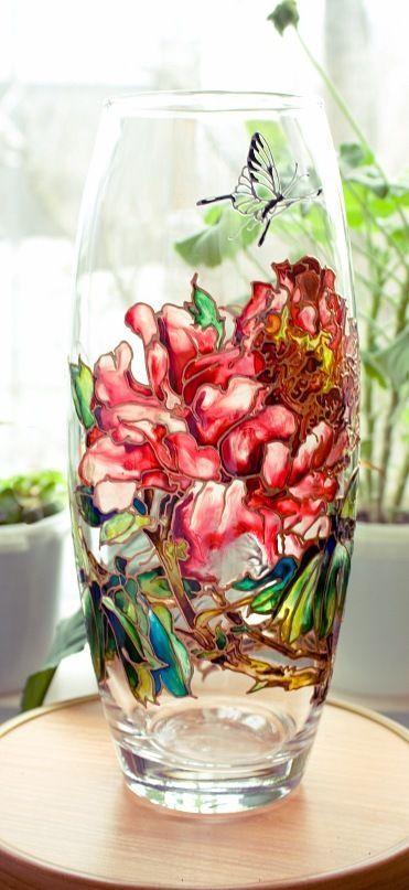 12 Adorable Marble Vases Decor Ideas Blue Vase Centerpieces Vase Design Painted Glass Vases