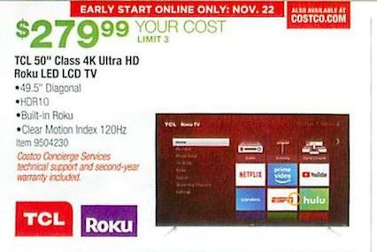50 Inch Tcl Costco 50 Inch Led Tv Black Friday Deals Black Friday Black Friday Tv Black Friday Tv Deals