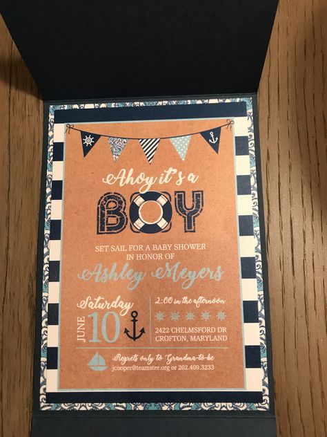 Julie Cooper Designs. Nautical Baby Shower invitations