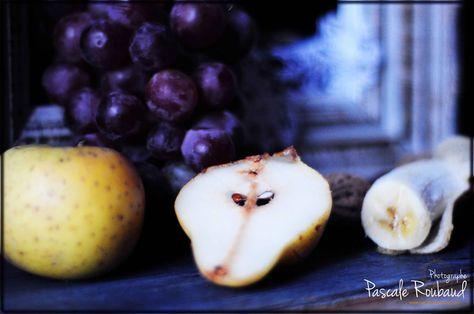 naturemorte#poire#pomme#raisin# | Culinaire, Photographie