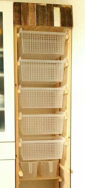 棚板要らない ダイソーのかごを使って キッチン収納をdiy 収納