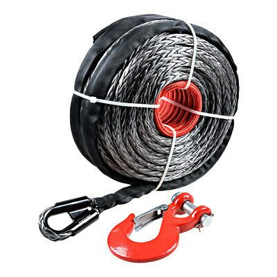 Sponsored Ebay 95 X 3 8 Synthetic Winch Cable Rope 20500 Lb Red Steel Clevis Hook Atv Utv Winch Cable Winch Rope Synthetic Winch Rope