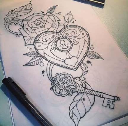 Tattoo heart locket locks 65+ Ideas #tattoo