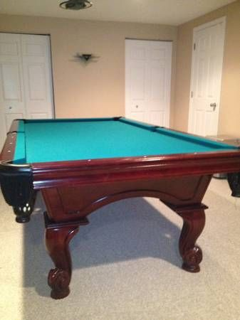 american heritage billiards mahogany pool table | sold used pool