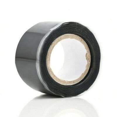 Black Rubber Silicone Repair Waterproof Bonding Tape Rescue Self Fusing Wire