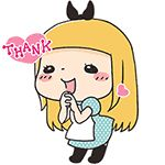 Lovely maid girl animated emoticons downloads girl emoticons girl emoji
