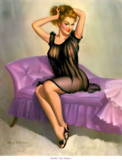 Easy To Spot Vintage Harry Ekman Pinup Girl Poster