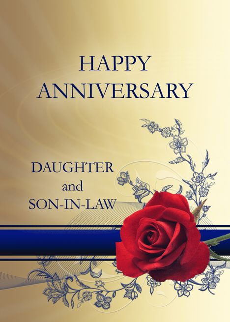 Red Rose Wedding Anniversary Daughter And Son In Law Card Ad Ad Wedding An Wedding Anniversary Cards 1st Wedding Anniversary Wedding Anniversary Wishes