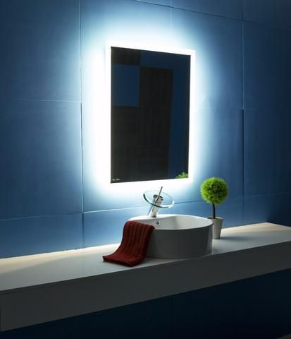Backlit Bathroom Lighted Mirror Size X Inches